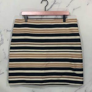 Ann Taylor LOFT Striped Mini Skirt